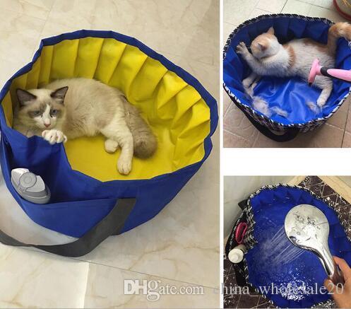 Großhandel Freies Verschiffen Pvc Portable Faltbare Pet Badewanne