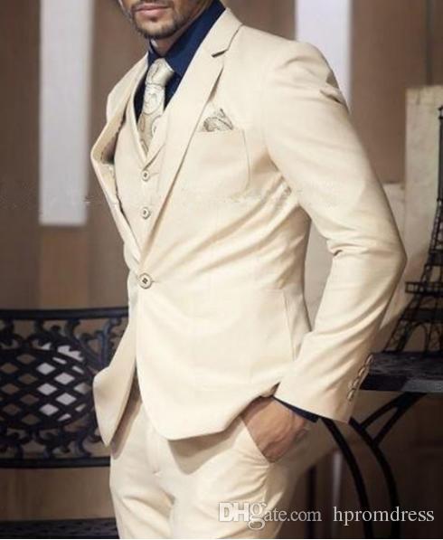 High Quality 2018 Blue Plaid Suit Male Groom Dress Suits Set Men's Spring Suits Men For Wedding Jacket/ Vest/ Pant
