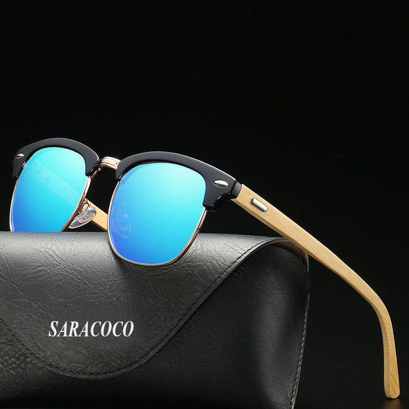 491133ba4aed SARACOCO Vintage Semi Rimless Polarized Sunglasses For Men 2018 Fashion Brand  Designer Half Frame Sun Glasses Shades Women R 853 Smith Sunglasses  Sunglasses ...
