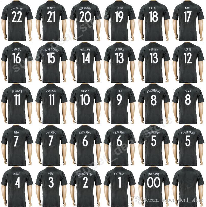 Acheter Coupe Du Monde 2018 Maillot De Football Hommes Thai Personnalisé 7  Ronaldo 17 Nani Maillot De Football Kits 2 Alves 5 F Coentrao 4 Miguel 20  ... 2dc61aed628