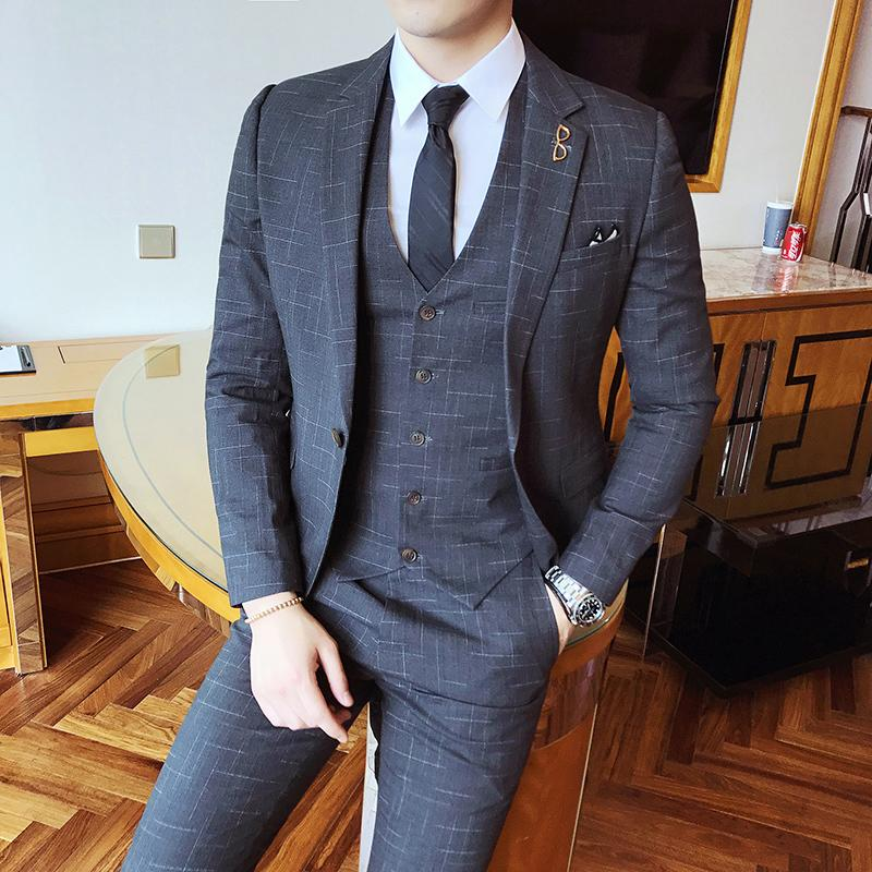 Grosshandel Gentleman Vintage Anzug Pinstripe Klassische Anstandige