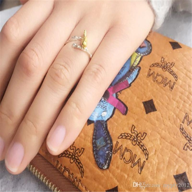 Vintage Thai Silver Leaf Bird Adjustable Band Ring 925 Sterling Siver Rings For Girl Women Gift Jewelry py