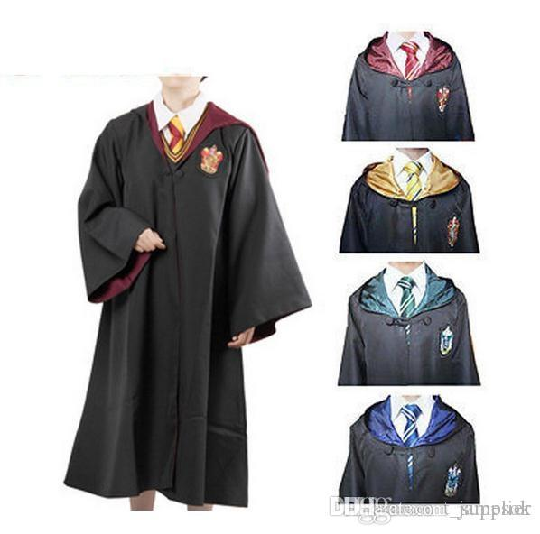 2019 New Harry Potter Robe Gryffindor Cosplay Costume Kids Adult