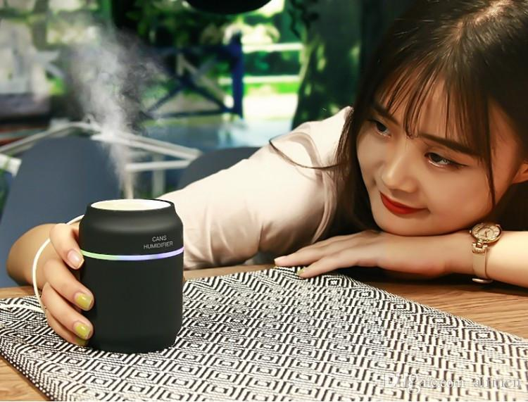 New Novelty Macaron 200ML Mini USB Portable Ultrasonic Humidifier DC 5V LED Light Air Purifier Mist Maker For Home Office Car