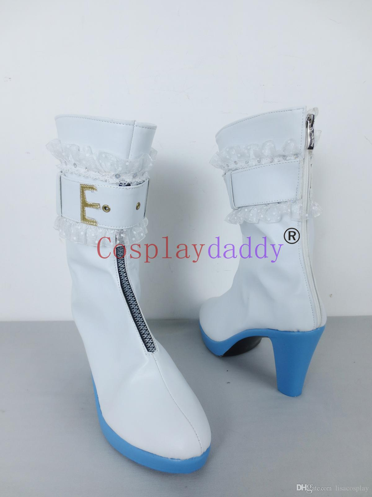 Fate/Extra CCC Saber Bride Saber Nero White Halloween Girls Cosplay Shoes Boots H016