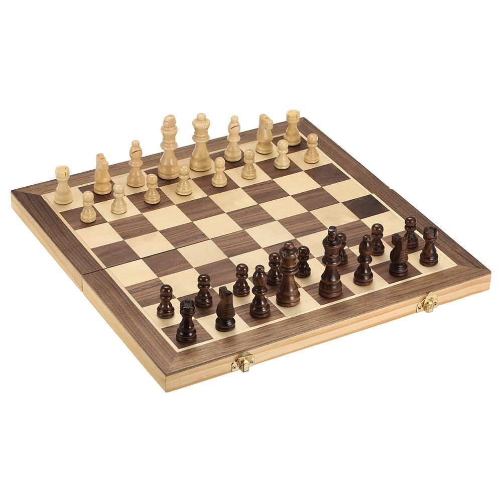 Satın Al Y6468 Katlanabilir Ahşap Satranç Seti Uluslararası Satranç