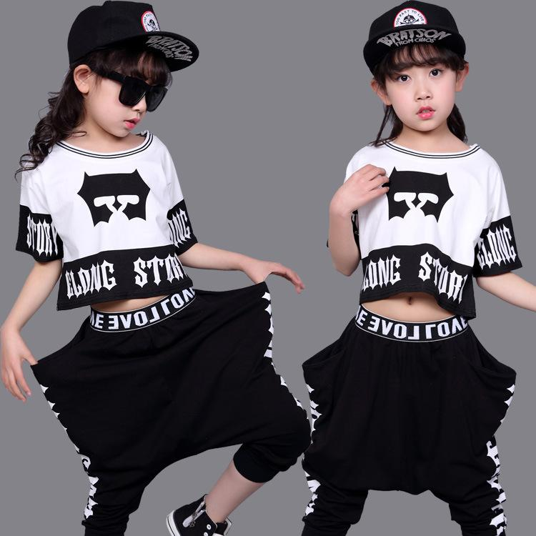 6183edf89 Girl Jazz Dance For Girls Street Dance Costumes for Girls Kids Girl ...