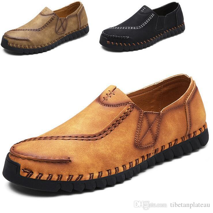d8d26d0462c Times New Roman Brand Men S Loafers Leather Casual Men Shoes Summer Autumn  Slip On Shoes For Men Flats Moccasins Mens Boat Shoes Loafers For Women  From ...