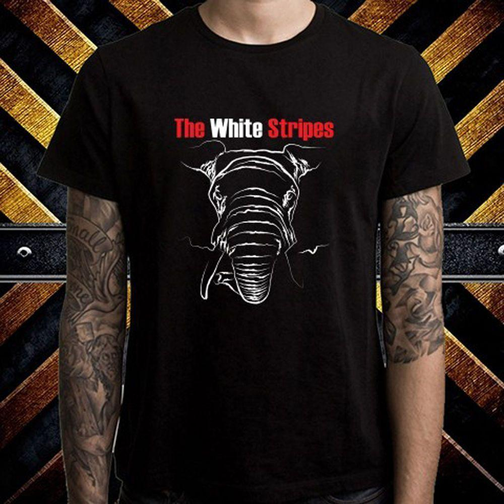 5e4328ca4 The White Stripes Elephant Tour Logo T Shirt 2018 New Arrival Men T Shirt  New Colour Funny Printed Designer Mens T Shirt Really Cool Sweatshirts From  ...