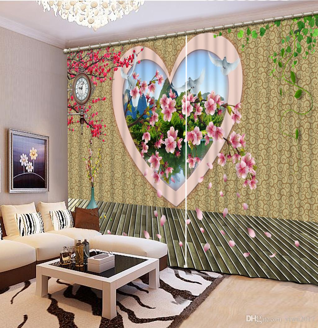 Euporean 3D cortinas creativo lago calamar ventana 3D cortina para sala de estar decoración del hogar decoración