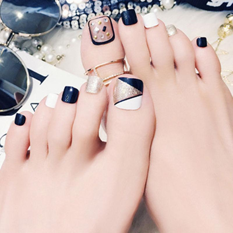 Elegant Toenail Decals False Toe Nail Tips French Manicure Diy Art Box C4 Fake Toenails Gel Extensions From Goddare 2587