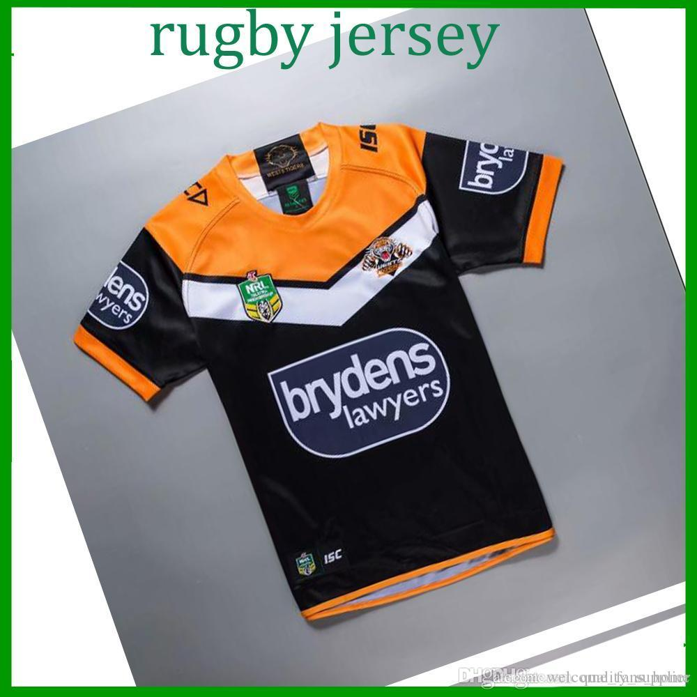 8e5ac7492 West Tiger Rugby Jersey 2018 19 High Quality Crusader Black Rugby ...