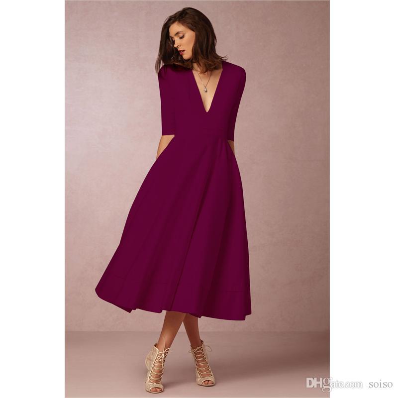 High Quality Sexy High Waist Dress 2018 Autumn And Winter Five ... 3583d2bf4e94