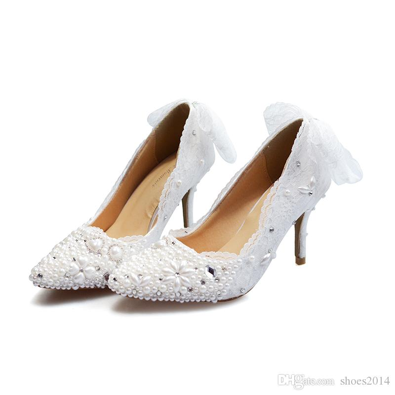 c3060bd3f8b Wedding Shoes Lace Custom Made High Heel Pumps Bridal Shoes Ladies ...