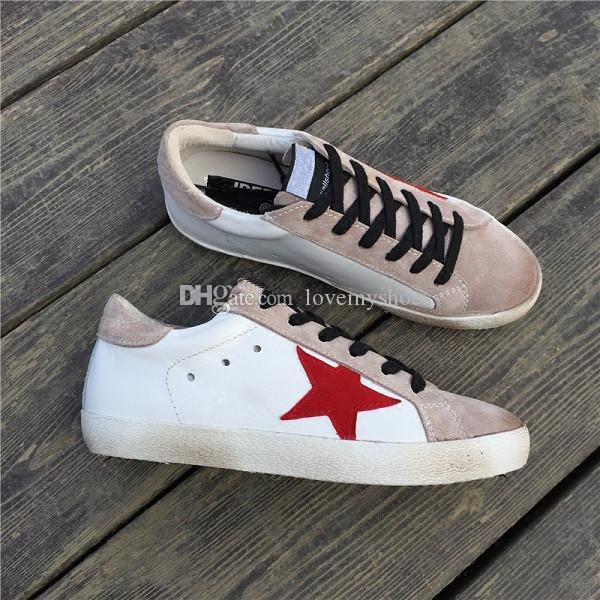 a677e95a0f3 Italy Luxury Brand Superstar Casual Shoe Man Woman White Sneaker Dirty  Style Old Star Lace Up