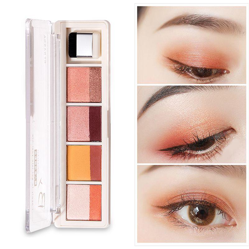 Eyeshadow Palette Long Lasting Matte Shimmer Powder Lazy Eye Shadow