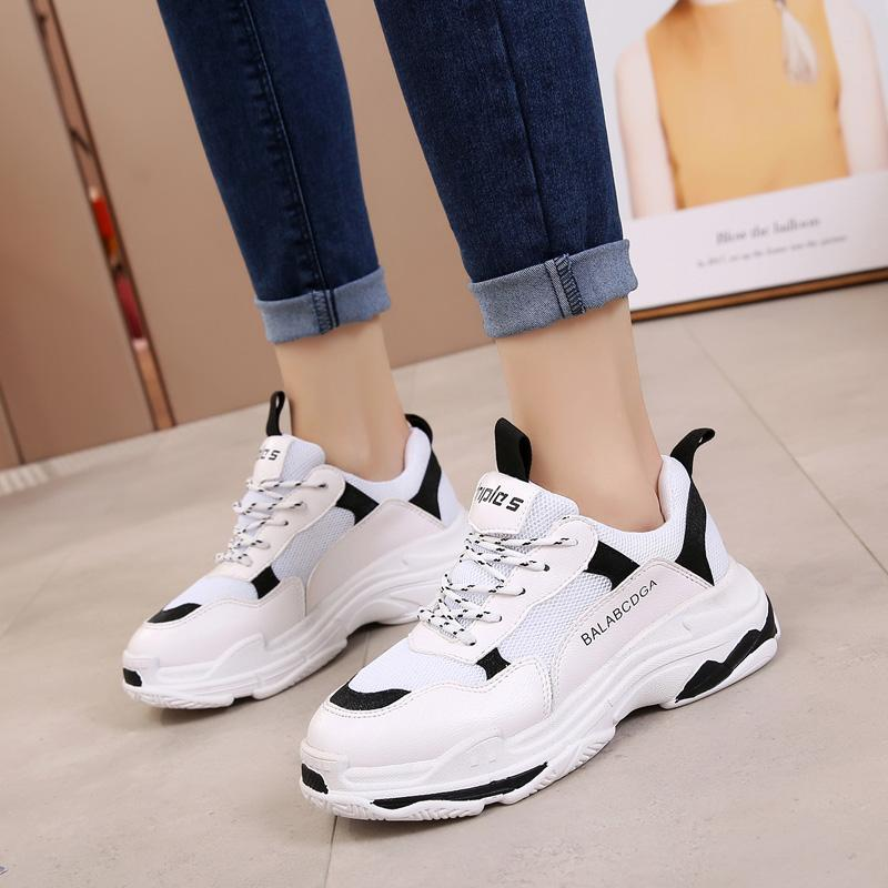 7f426deb 2019 Trend Women Sneakers Hot Mesh Daddy Shoes Female Comfortable ...