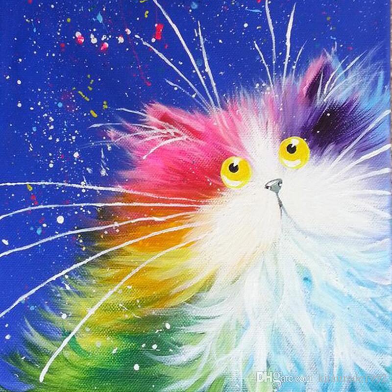 Satın Al Türük Elmas Boyama Kedi 5d Diy çapraz Dikiş Nakış Elmas Tam