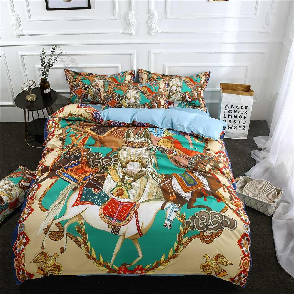 Cartoon Bedding Linen Bed Clothes Set Fairy Tale Story Printing
