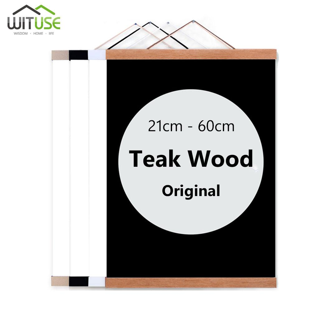 b83c1d3e0d 2019 Wooden Poster Hanger Photo Frame White Black DIY Picture Canvas Print  Hanging Wall Art Home Decor 21 60cm A4 A3 Custom Size New From Waxer, ...