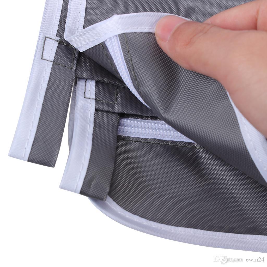 Panier à linge à accrocher à la porte de la buanderie avec 2 crochets et ventouses en acier inoxydable PCS Gris foncé gain de place