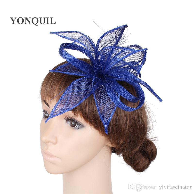 Royal Blue Or Wedding Ladies Hats Fascinators Feather Hair Accessories High  Quality Red Cocktail Hair Fascinator Hats SYF255 Wedding Hats For Sale  Womens ... 0f79ec1e364