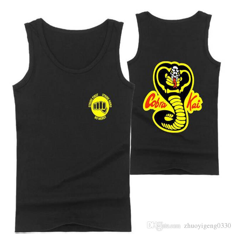 f8fcc9e9794f5 2018 TV Cobra Kai Tank Tops Men Women Pattern Print Sleeveless Shirts  Summer Cobra Kai Cotton Tank Top Loose Casual Vest Online with  21.96 Piece  on ...