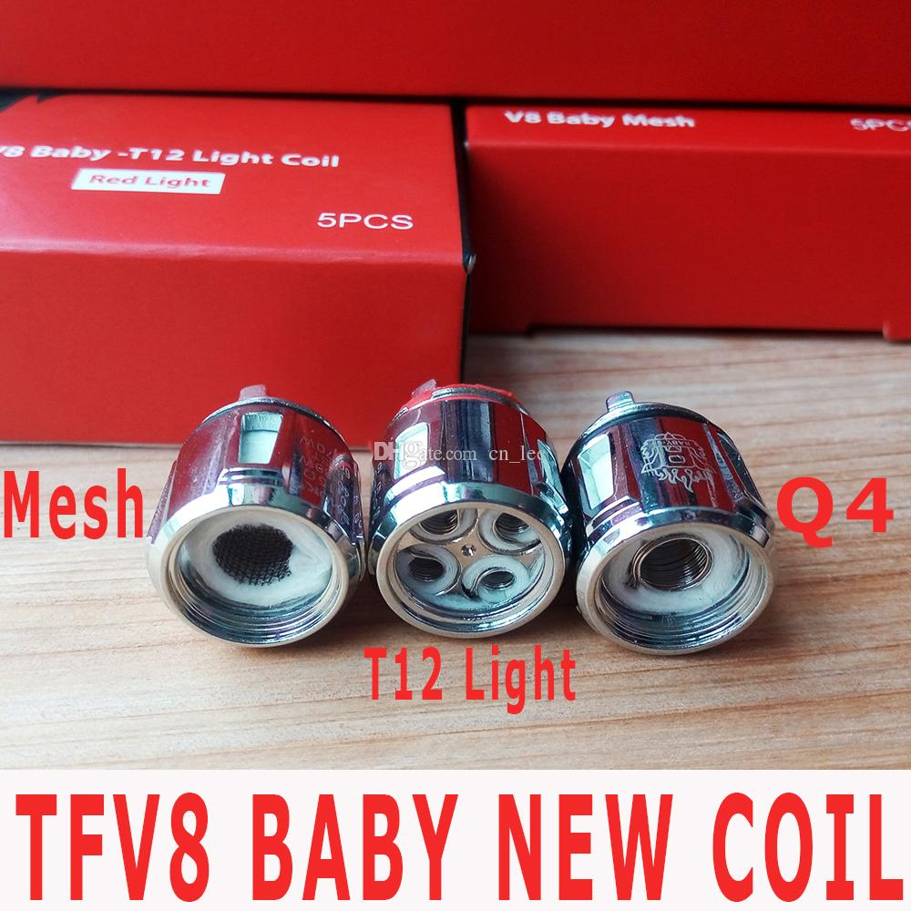 100% Authentic TFV8 Baby New Beast Coil Head T12 Q4 Mesh 0.15 Ohm Replacement Coils For Tfv12 Baby Prince Tank