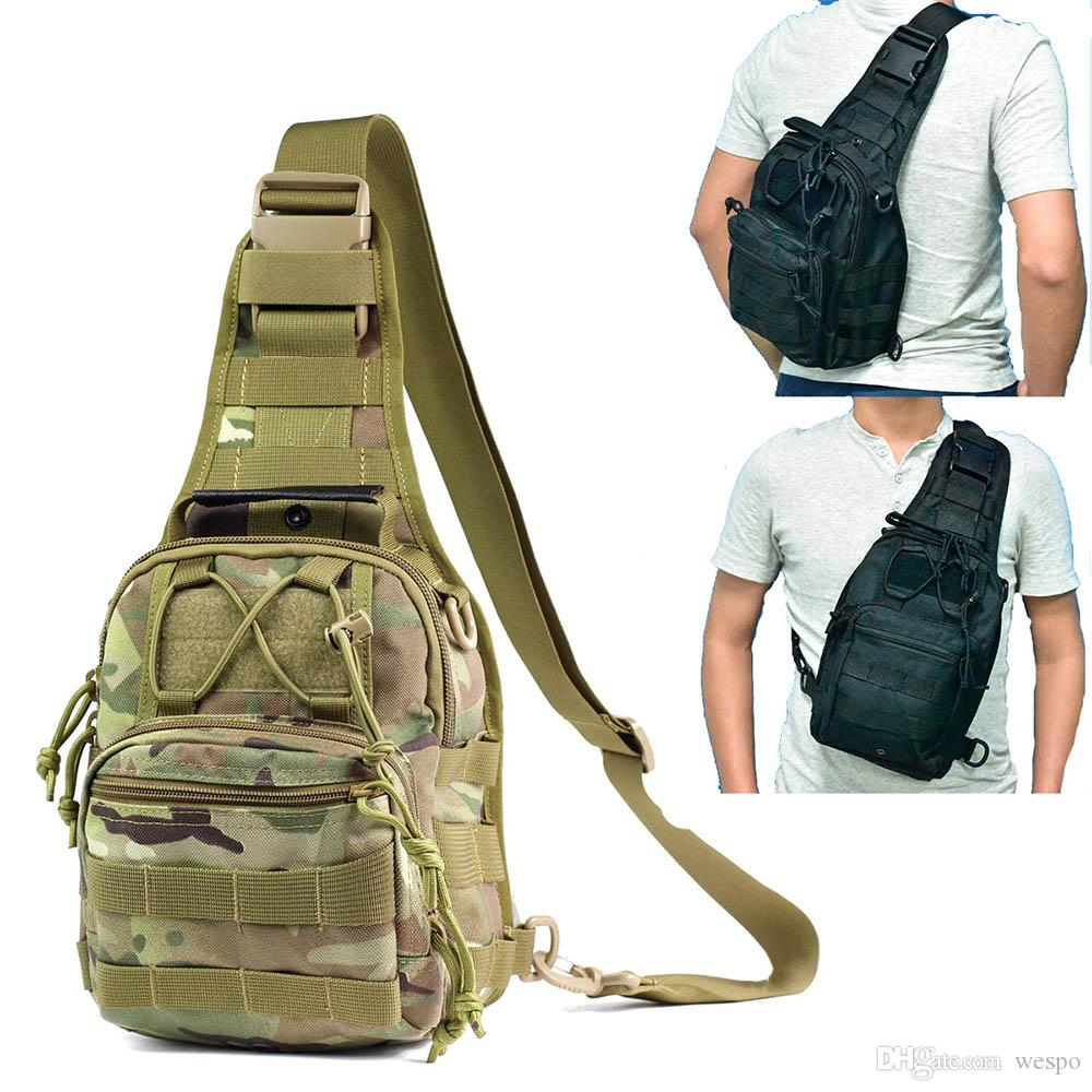 06b1f01958 2019 Tactical Sling Shoulder Backpack 1000D Nylon Waterproof 11L Large  Capacity Molle Side Shadow Bag Unisex Sport Chest Bag From Wespo