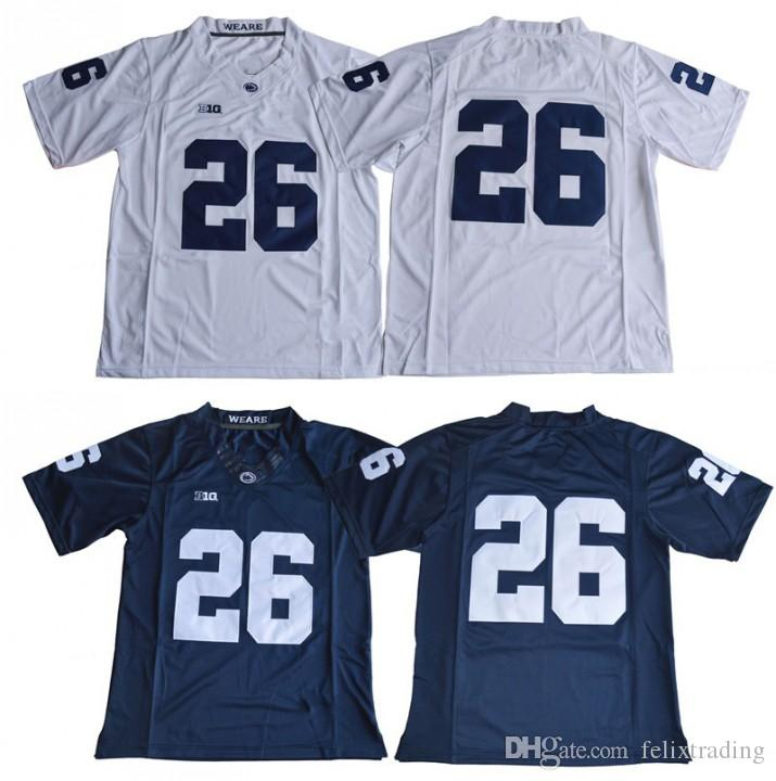 hot sales 29f7c 18a2c 26 Saquon Barkley Jersey 2017 Penn State Nittany Lions college Jersey No  Name Navy Blue White Football Jerseys Stitched Men Football Jersey