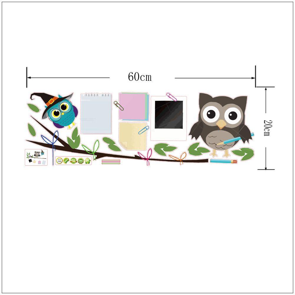 PVC Cute Cartoon sticker Owl Tree Wall Stickers for Kids Bedroom Kindergarten Home Decor Sofa Living Wallpaper Art Wall Decals