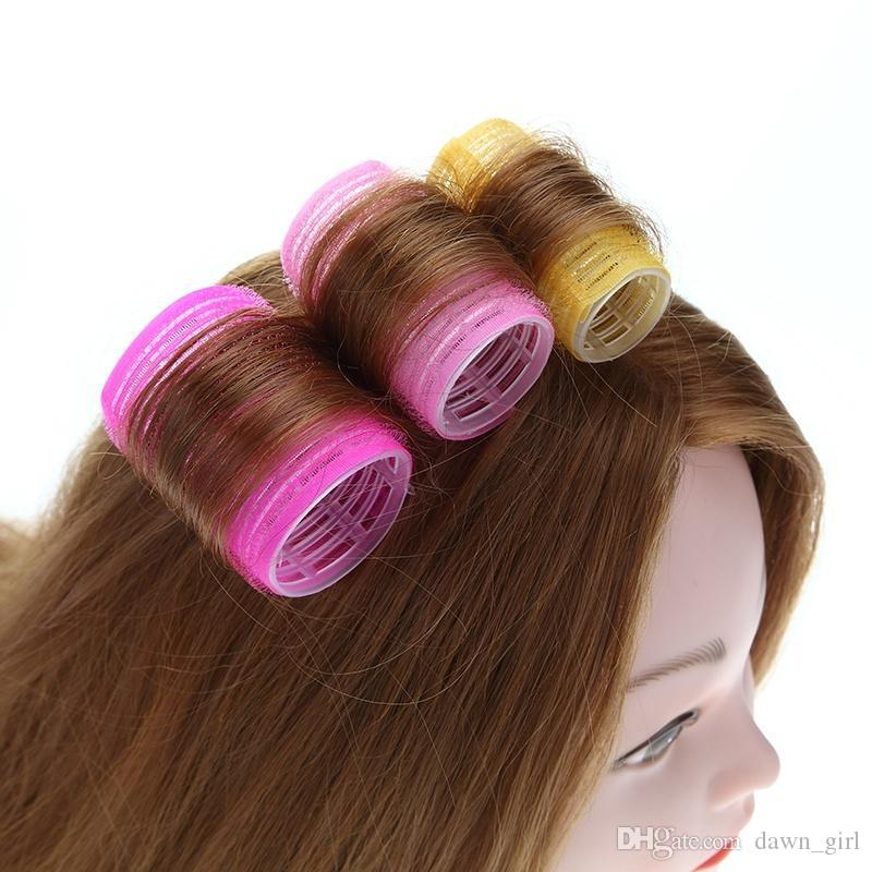 6pcs/lot Hairdressing Home Use DIY Magic Large Self-Adhesive Hair Rollers Styling Roller Roll Curler Beauty Tool 4 Size
