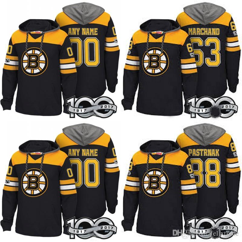 Boston Bruins Hockey Sweatshirt Hoodies 73 Charlie McAvoy 47 Torey Krug 33  Zdeno Chara With 100th Patch Stiched Any Name Pullover Hoodie Canada 2019  From ... 2c3c1fc21ea