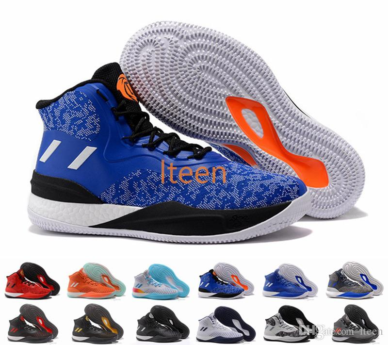 a7ddf4b3556c 2017-2018 Newest And Cheapest D Rose 8 VIII Boost Primeknit White Navy Blue   D Rose 8 Knicks Basketball Shoes For Men Black Gold Derrick Rose 8s VIII  New ...