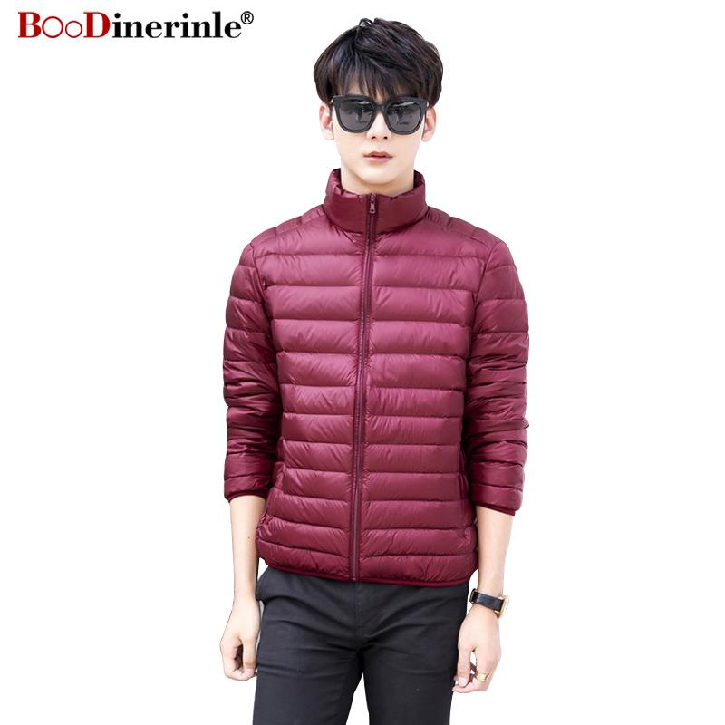 2a442564a297b 2019 BOoDinerinle New Winter Men Ultralight Down Jacket 90 White Duck Down  Coat Male Plus Size Lightweight Parka Outwear Hombre YR067 From Vanilla01