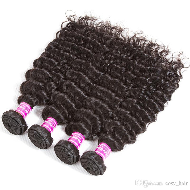 سعر المصنع البرازيلي العذراء الشعر المياه العميق غريب مجعد غير المجهزة الإنسان نسج حزم ريمي بيرو الماليزية الشعر الهندي