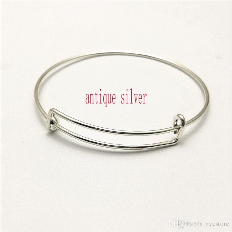 мода расширяемые провода браслеты браслеты DIY ювелирных изделий кабель провода браслет регулируемый Шарм любовь браслет аксессуары Оптовая