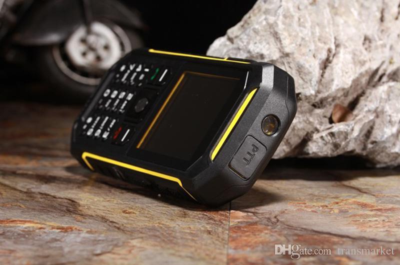 Quality Walkie Talkie PTT Mobile Phone X6 LCD Flishlight GSM Dual SIM Senior 2500mAH Shockproof Dustproof Military cell Phone 240
