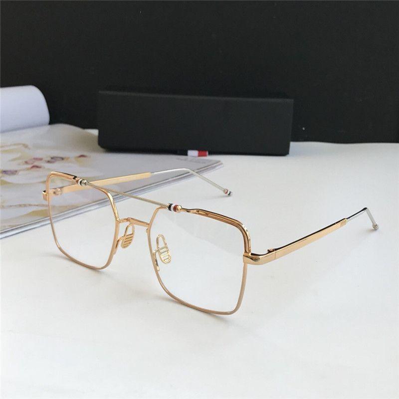 485df5b2c0 New Fashion Designer Eye Glasses 909 Square Frame Metal Frame ...