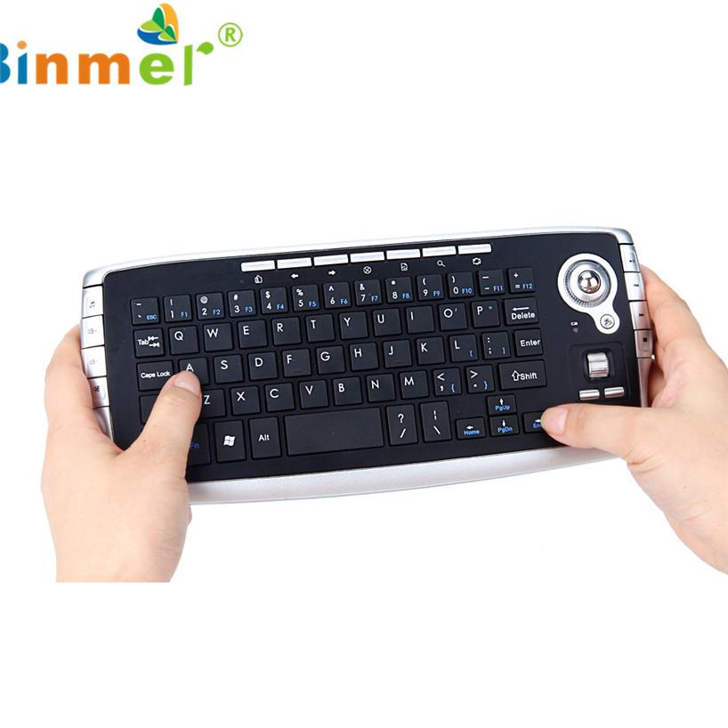 Binmer 2017 Free shiping Mini 2.4Ghz Wireless Keyboard Touchpad With Mouse For PC PS4 Smart TV Sep 22