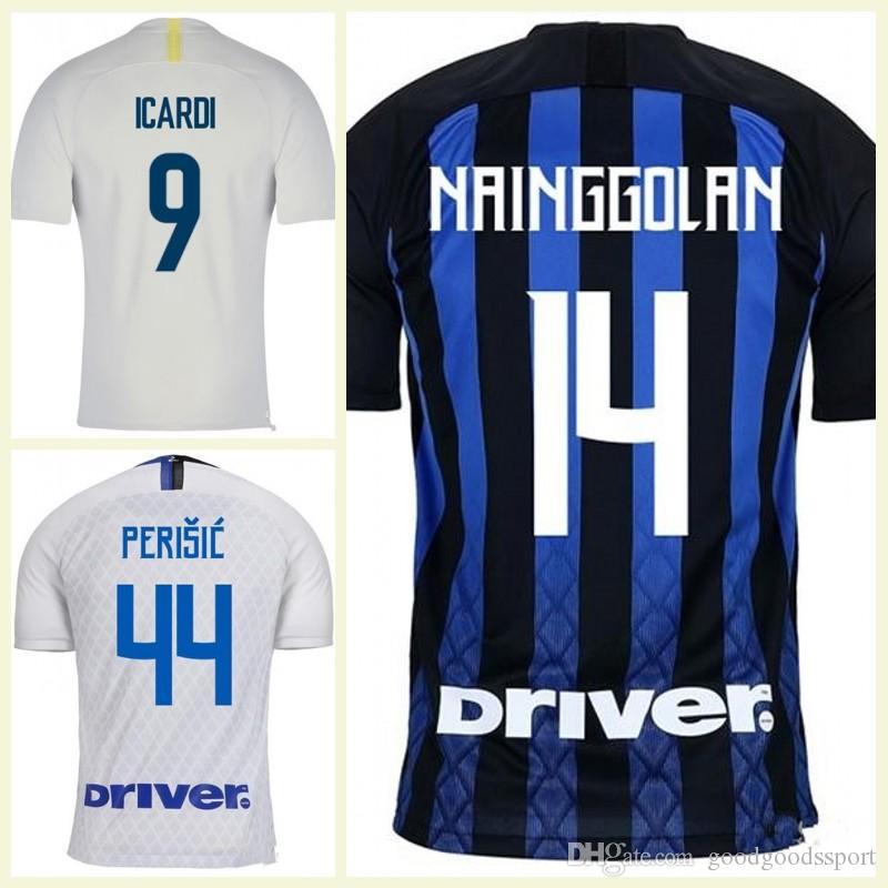 27b520b2814e ... order lautaro icardi perisic nainggolan milan football shirt inter home  2018 2019 politano ambrosio away maillot