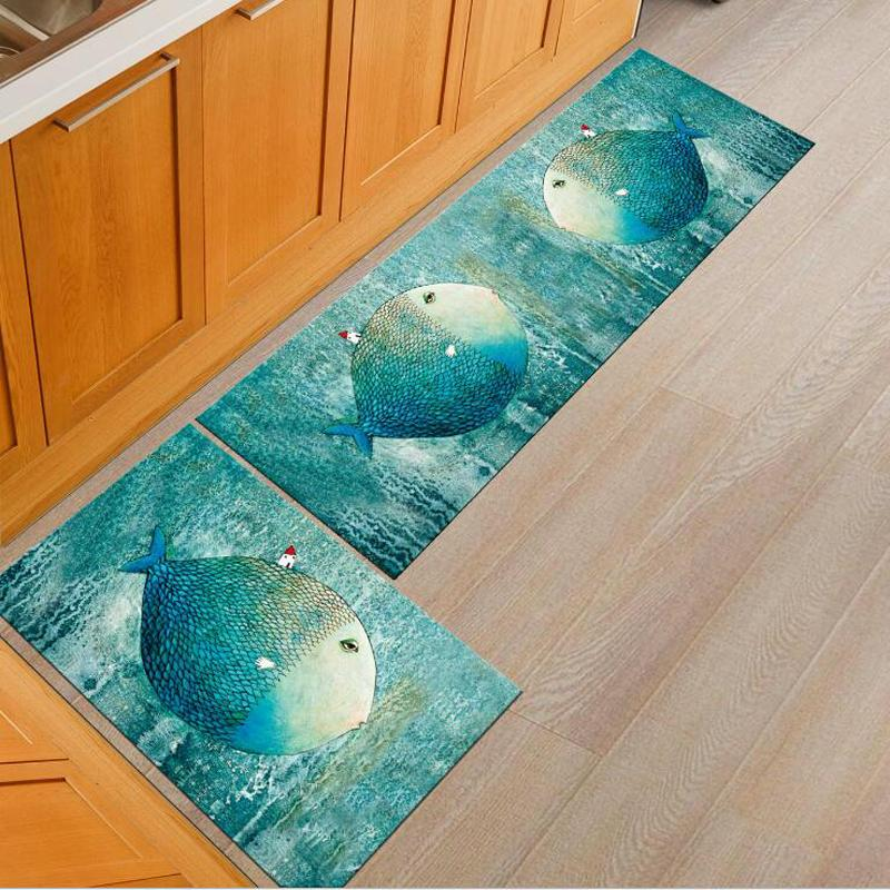anti slip kitchen mat set bath shower room floor carpet home decor