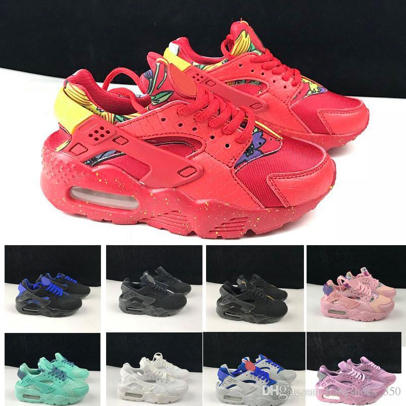 99e8e5f51096 2018 New Fashion Air Huarache Infant Shoes Kids Baby Children Huaraches  Huraches Designer Hurache Casual Toddler Running Sneakers 26 35 Girls  Sports Shoes ...