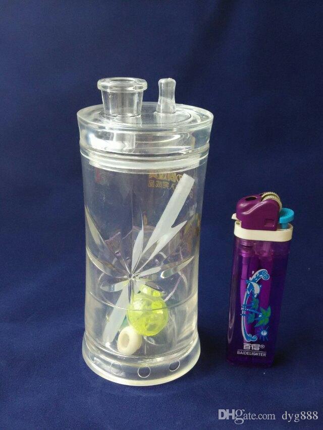 2018 botella de agua de acrílico Venta al por mayor de vidrio Cachimba, accesorios de tubería de agua de vidrio, envío gratis