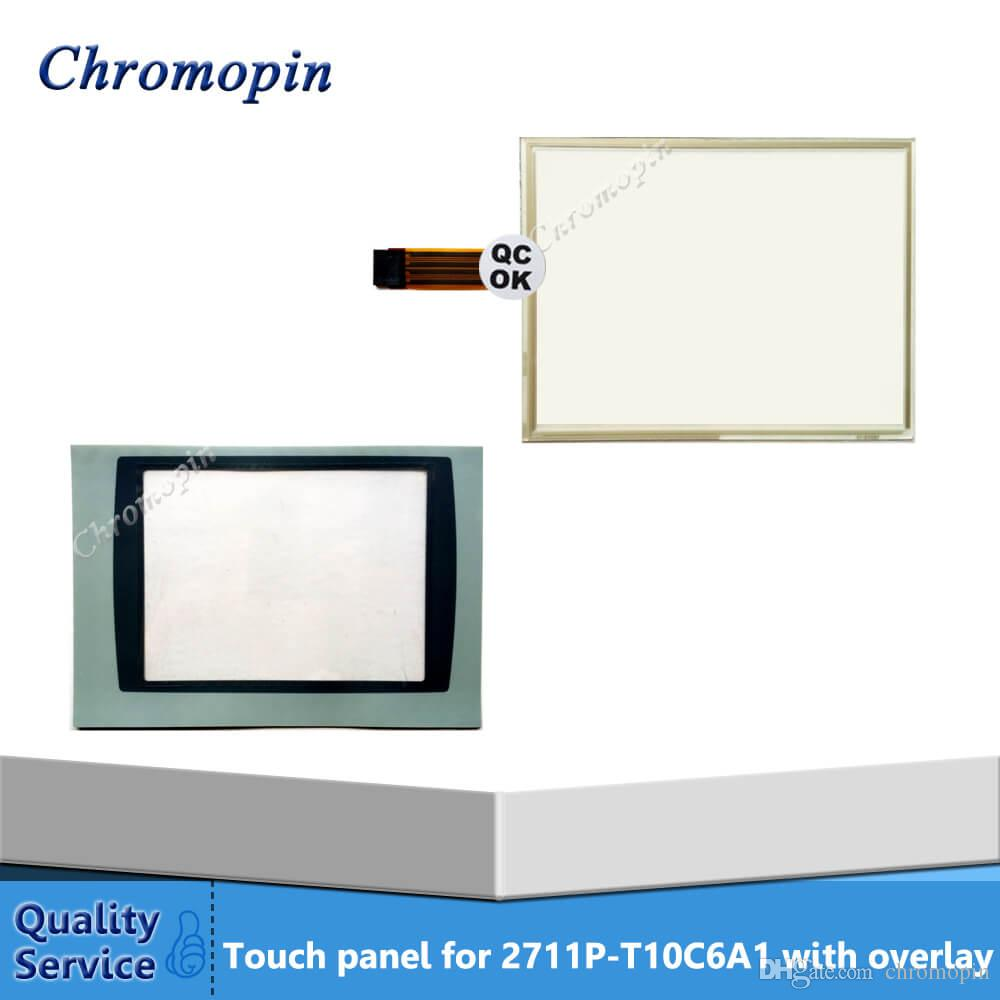PanelView Plus 1000 2711P-T10C4A8 2711P-T10C4A9 New HMI PLC touch screen  panel touchscreen And Front label