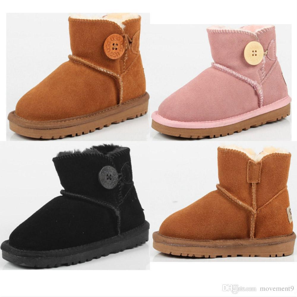 e109dbcc6 Compre Piel De Oveja De Un Niño Botas De Nieve Pequeño Burro De Algodón  Suave Niño Zapatos De Niños Y Niñas Botas A  59.9 Del Movement9