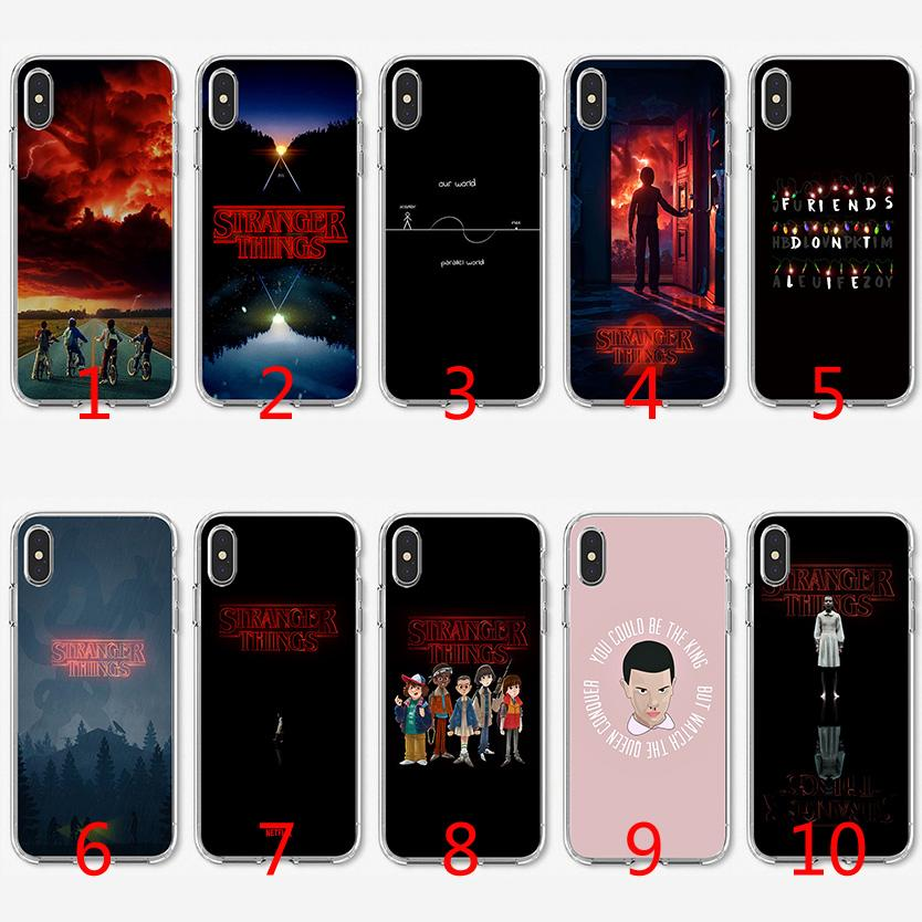 more photos 259c1 e768a Stranger Things Soft Silicone TPU Case for iPhone X XS Max XR 8 7 Plus 6 6s  Plus 5 5s SE Cover