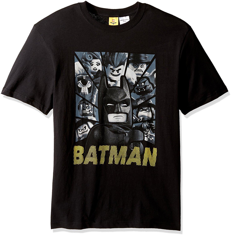 2018 Mens Batman Symbol Crumbling Bricks Short Sleeve T Shirt O