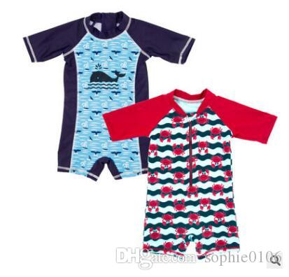 Boy Summer Swimsuit One Piece Baby Polyester Swimwear Kids Summer Swim Clothes Baby Clothing AM 006