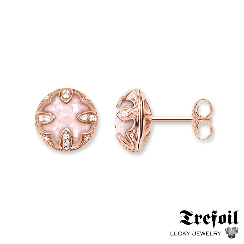 2018 Red Lotus Flower Stud Earrings Crystal Fashion Jewelry 925